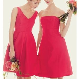 J. Crew Kami coral sunset dress in faille 6 $250